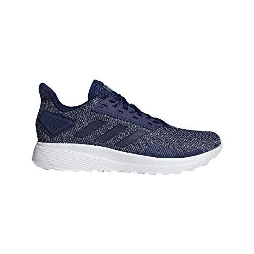 adidas Men's Duramo 9 Running Shoe, Dark Blue/Grey, 12 M US