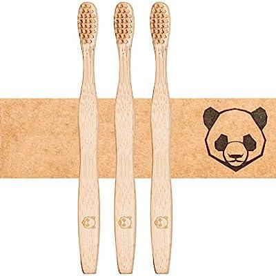 Cepillo de dientes de bambú para adultos ♻ Cerdas duras de viscosa de bambú ♻ Sostenible ✅ Vegano ✅ Compostable ✅ Antibacteriano ✅ Sin BPA ✅
