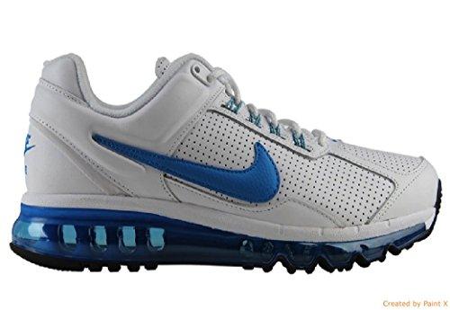 Nike Heren Air Max 2013 Lederen Loopschoenen, Wit / Blauw