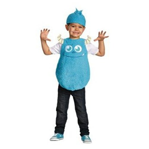 Monsters University Toddler Boys Plush Blue Faux Fur Sulley Costume & Hat 2T ()