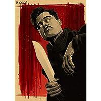 Hanasi Quentin Tarantino Movie Poster Collection, Vintage Kraft Poster, Decorative Poster, Home Decor, Movie Wall Sticker, Poster Movie