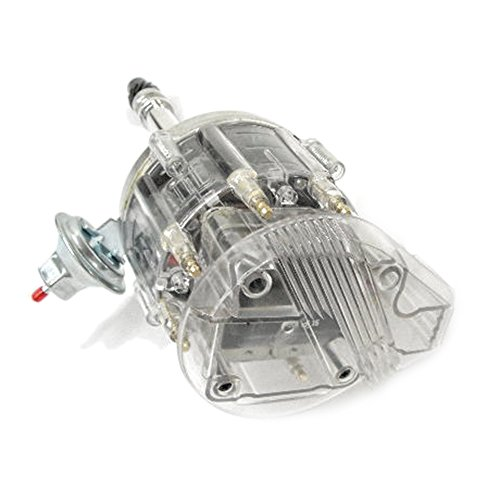 Timing V8 Chevy (Assault Racing Products 1035004 Small Block Chevy Large Clear Cap HEI Distributor SBC 65k Ready To Run)