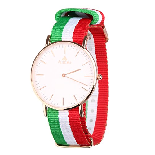 aurora-mens-casual-business-rose-gold-tone-nylon-strap-wrist-watch-with-red-white-green-striped-band