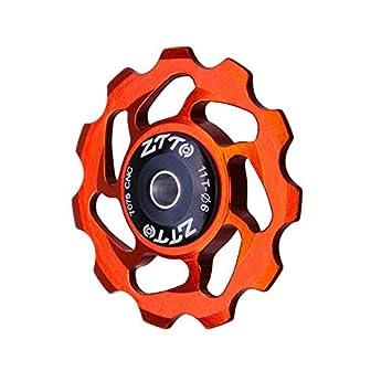 Candybush Ligera aleación de Aluminio MTB Bicicleta Trasero desviador Rueda de Jockey Rodamiento de cerámica Polea AL7075 CNC Rodillo guía de Bicicleta de ...