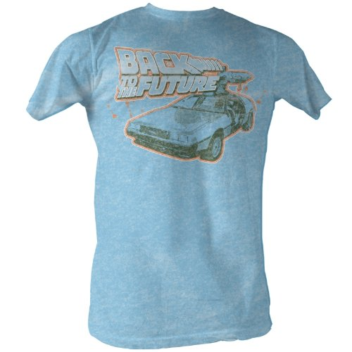 American Classics Back to The Future Movie Light Blue T-ShirtLarge