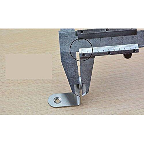/20/pezzi WINOMO Attaccaglia comune diritti punta morsetto di fissaggio 90//° angolo chiusura 20/mmx20mmx16/mm/
