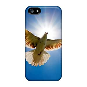 Iphone 5/5s IXs4655RZyD Dove Bird From Sky Tpu Silicone Gel Case Cover. Fits Iphone 5/5s