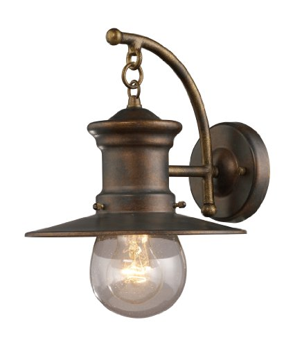 ELK 42006/1, Maritime Outdoor Wall Sconce Lighting, Hazelnut Bronze ()
