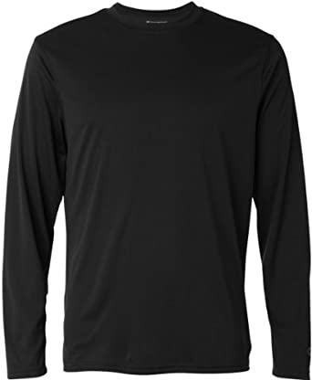 Amazon.com: Champion Men's Double Dry C Logo Long Sleeve Tee: Clothing