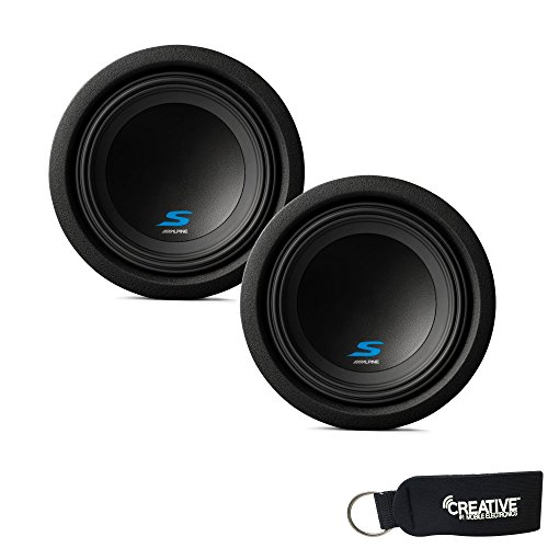 Alpine Subwoofer Package - Two S-W8D4 S-Series 8