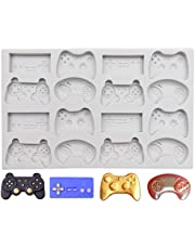 SAKOLLA Game Controller Silicone Mold, 16 Cavity Video Controller Mold for Fondant, Chocolate, Candy, Resin, Cake Decoration, Cupcake Topper