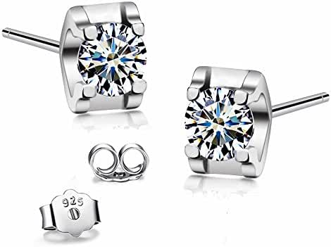 [DEAL OF THE DAY] T400 Jewelers 925 Sterling Silver Swarovski Cubic Zirconia Stud Earrings (9/10 CTTW) Love Gift