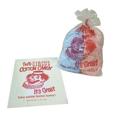 Gold Medal Plastic Cotton Candy Bags (1,000 ct.) by MegaDeal by MegaDeal (Image #1)