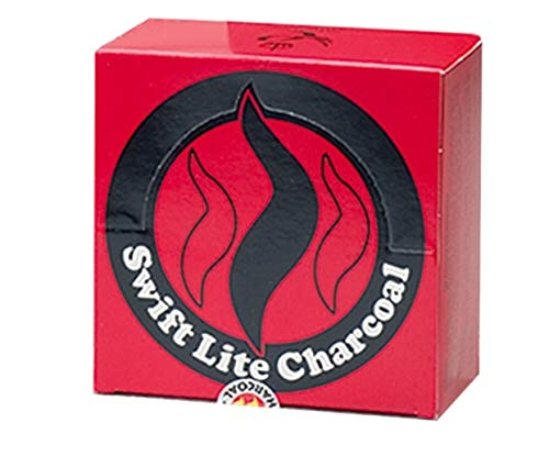 Swift Lite Pack of 100 x 40 mm charcoal Tablets (for incense/Shisha burning)