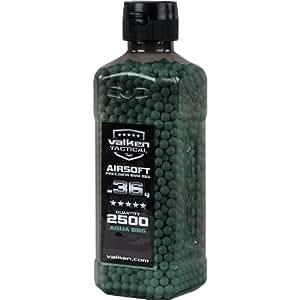 V-Tac BBs Valken Tactical 0.36g Bottle, 2500 Count, Aqua