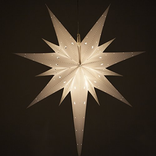Fold-Flat Bethlehem Star Light – LED Star Christmas Decoration, Battery-Powered with Timer), (26