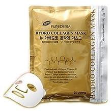 Purederm - 25 x Gold Hydro Collagen Mask - Facial Care with Green Tea & Papaya + Vitamin E