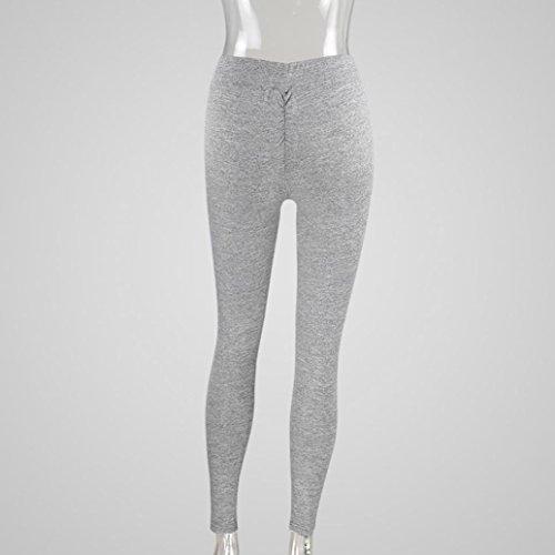 Pocciol Capri Yoga Leggings, High Waist Trousers Fitness Women Solid Stretch Pants