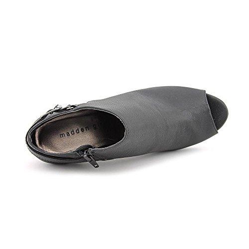 Madden Girl Ginny Women US 8.5 Black Peep Toe Bootie