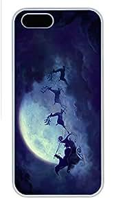 2015 iPhone 5S caso, único diseño iPhone 5/5S PC duro borde blanco - feliz Christams03 funda 8915173M69379779