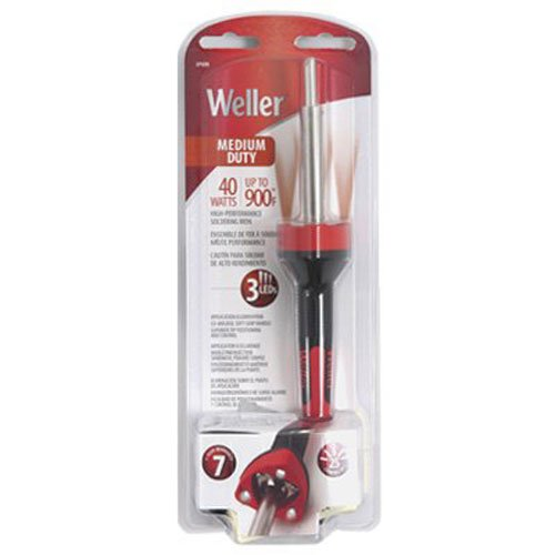 Weller Solder - Weller SP40NUS Medium Duty LED Soldering Iron, Red/Black