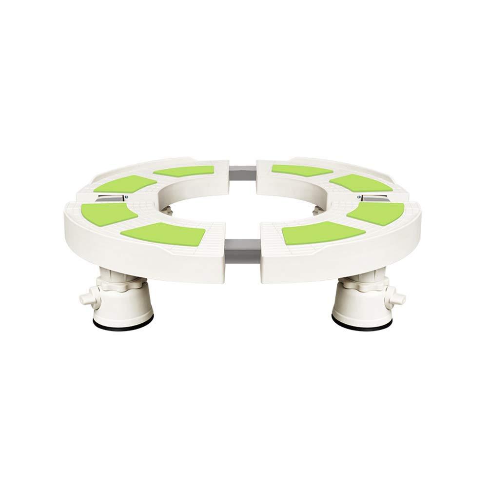 洗濯機ベース、空調高めブラケットラウンドブラケット耐摩耗性滑り止め調整可能 ++   B07HMRCH47