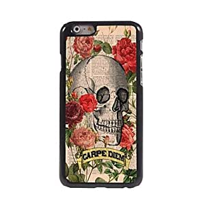LCJ Skull with Feather Design Aluminum Hard Case for iPhone 6 Plus