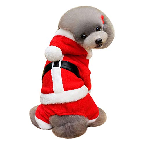 Geetobby Christmas Pet Sweatshirt Hoddie Dog Winter Warm Coat Costume Apparel