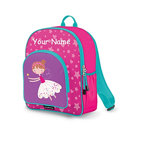 Personalized Crocodile Creek Kids Sweet Dreams Fairy Ballerina Pink and Purple Backpack Book Bag - 14 Inches