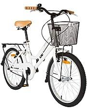 دراجة كلاسيك سيتي من سبارتان، باللون الابيض، مقاس 20 انش