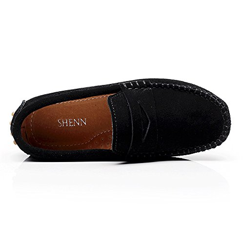 Pictures of Shenn Boys' Cute Slip-On Suede Leather S8884 6