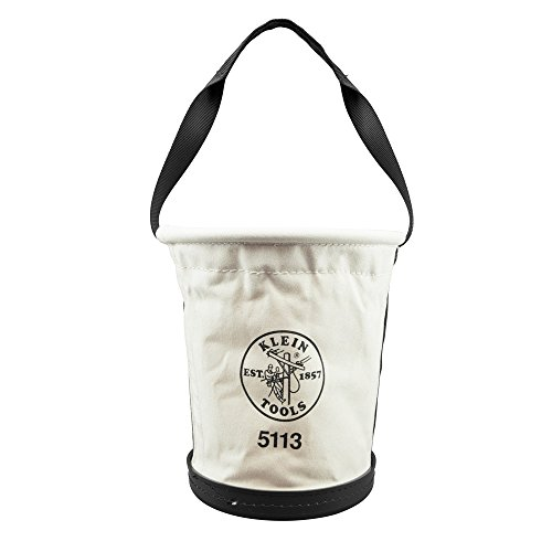 Canvas Bucket for Tool Storage and Transport is Tapered, Canvas with Web Handle, Made in USA Klein Tools 5113]()