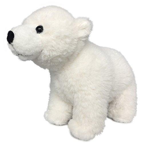 (Lifelike Baby Polar Bear Stuffed Animal - Plush Toy - 9 Inches Length)