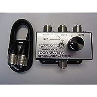 Workman CX-3 3 Position COAX Antenna SWITCH 1000 W - CB / Ham Radio w/ 3 Foot Jumper!
