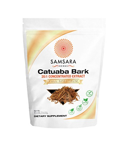 Samsara Herbs Catuaba Bark Extract Powder (2oz/57g) 20:1 Concentrated Extract - Libido Health, Energy, Stamina,
