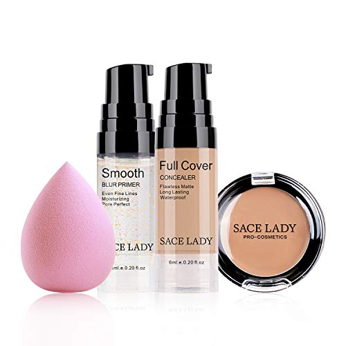 SACE LADY Concealer With Primer Sponge Set