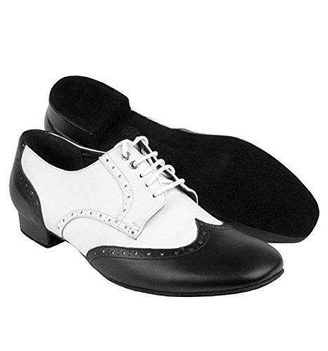 Mens Standard-Party-Party-Serie Ballsaal Schuhe, PP301 Dunkelbraunes Leder
