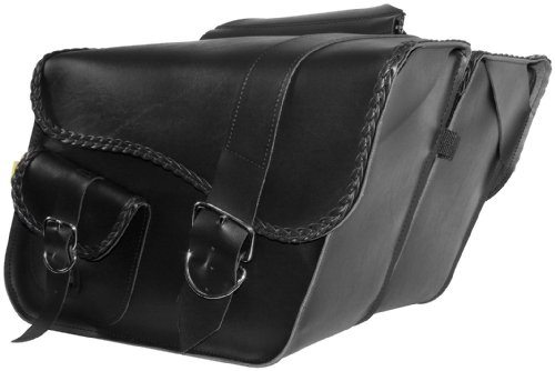 Willie and Max Ranger Braided Slant Saddlebags - 16in.W x 11in.H x 6-1/2in.D