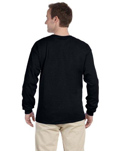 Fruit of the Loom Adult 5 oz HD Cotton Long-Sleeve T-Shirt - BLACK - 2XL - (Style # 4930 - Original Label)