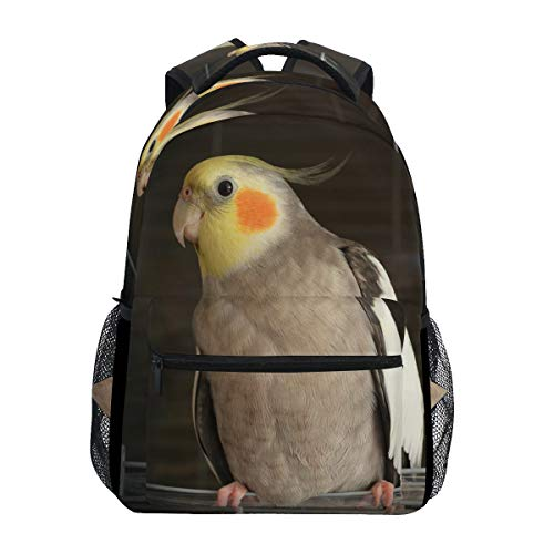 Backpack Travel Cockatiel Wire Bird Cage School Bookbags Shoulder Laptop Daypack College Bag for Womens Mens Boys Girls