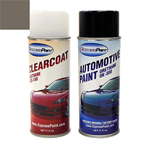 ExpressPaint Aerosol - Automotive Touch-up Paint for Nissan Sentra - Tent Gray Metallic Clearcoat K37 - Color + Clearcoat Package