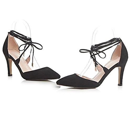 Minivog Dorsay Strappy Femmes Chaussures À Talons Hauts Black1