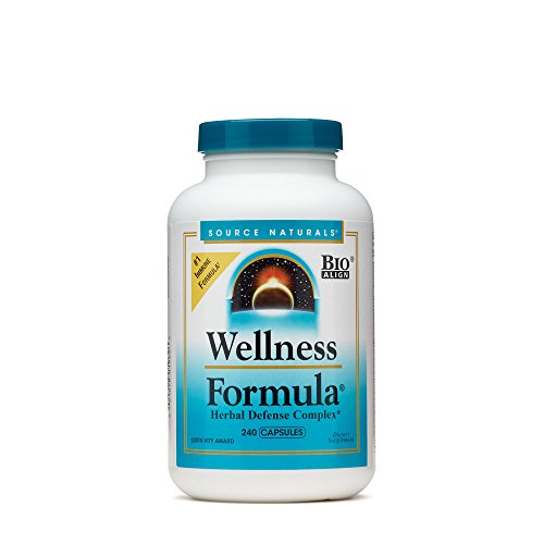 Source Naturals Wellness Formula Bio-Aligned Vitamins & Herbal Defense - Immune System Support Supplement & Immunity Booster - 240 Count