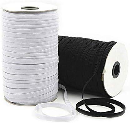 Jempak Uk 5m X 6mm White Flat Elastic Cord Band For Sewing