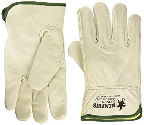 - MCR Safety MG3211AM Unlined Select Grain Cow Leather Alycore Drivers Gloves with Keystone Thumb and Cut/Puncture Protection (1 Pair), Medium