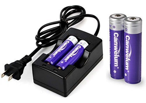 Canwelum Rechargeable 3.7V 18650 Li-ion