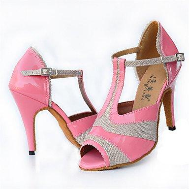 de Latino Personalizables baile Zapatos Negro Rosa Stiletto Tacón Black Moderno IfdBnWnxcT