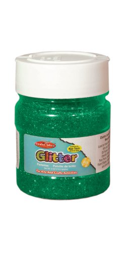 Creative Arts by Charles Leonard Glitter, 4 oz. Bottle, Green (41425)