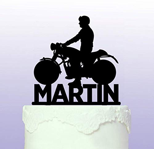 Personalised Classic Motorbike Cake Topper Bsa - Norton by Tamengi