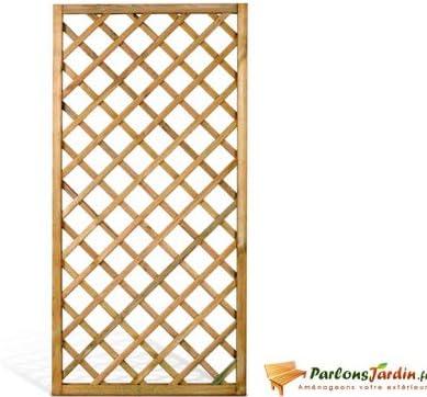 celosía vertical malla rombo de madera tratado L90 x H180 cm: Amazon.es: Hogar
